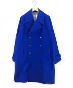 DRESSEDUNDRESSED(ドレスドアンドレスド)の古着「オーバーサイズPコート」 ブルー