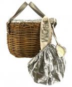 ebagos(エバゴス)の古着「メタリックコンビカゴバッグ」 ブラウン×シルバー