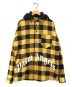 Palm Angels(パームエンジェルス)の古着「チェック シャツジャケット」|イエロー×ブラック