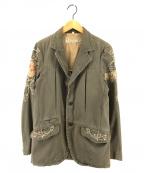 REPLAY(リプレイ)の古着「刺繍コットンテーラードジャケット」|カーキ