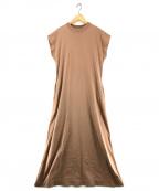 Phlannel(フランネル)の古着「Organic cotton サマーロングドレス」 ブラウン