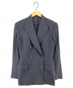 Jean Paul Gaultier FEMME(ジャンポールゴルチェ フェム)の古着「[OLD]90sバック切替デザインダブルジャケット」|ネイビー