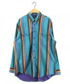 Wrangler(ラングラー)の古着「[古着]90sオーバーサイズシャツ」 マルチカラー
