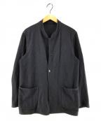 COMOLI(コモリ)の古着「インレイツイルスタンドカラージャケット」|ネイビー