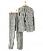 JOSEPH HOMME(ジョゼフ オム)の古着「AIR SUITING/クールドッツストレッチセットアップス」 グレー