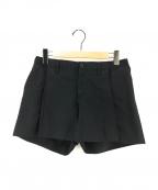 ISSEY MIYAKE(イッセイミヤケ)の古着「プリーツ切替ショートパンツ」|ブラック