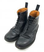 Tricker's(トリッカーズ)の古着「MALTONカントリーブーツ ウィングチップブーツ」 ブラック