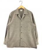 STEVEN ALAN(スティーブンアラン)の古着「Wドビーボックスキャンプカラーシャツ」|ベージュ