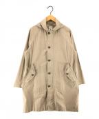 ORCIVAL(オーシバル)の古着「フード付きコート」 ベージュ