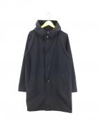 JACKMAN(ジャックマン)の古着「High-density Jersey Coat コート」 ネイビー