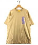 FR2(エフアールツー)の古着「Mask man T-shirt プリントTシャツ」 ベージュ