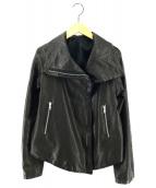 ()の古着「シープレザージャケット」|ブラック