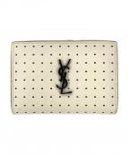 Saint Laurent Paris(サンローランパリ)の古着「2つ折り財布」 ホワイト