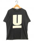 UNDERCOVER(アンダーカバー)の古着「UロゴプリントTシャツ」|ブラック
