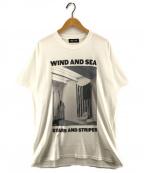WIND AND SEA(ウィンダンシー)の古着「STARS AND STRIPES フォトTシャツ」|ホワイト
