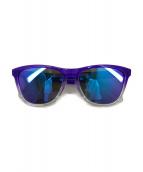 ()の古着「フロッグスキン偏光レンズサングラス」 パープル