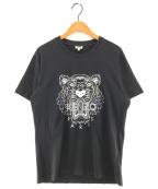 KENZO(ケンゾー)の古着「タイガープリントカットソー Tシャツ」|ブラック