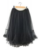 ()の古着「デザインチュールスカート」 ブラック