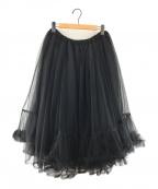 noir kei ninomiya(ノワール ケイ ニノミヤ)の古着「デザインチュールスカート」|ブラック