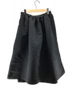 ()の古着「スカート風デザインワイドパンツ」 ブラック