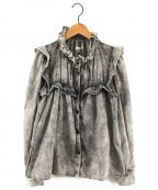 ISABEL MARANT ETOILE(イザベルマランエトワール)の古着「ロングスリーブラッフルシャツ フリルシャツ」|グレー
