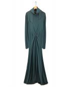 ()の古着「BALLOON APRON DRESS ワンピース」 ダークグリーン