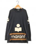 ISABEL MARANT(イザベルマラン)の古着「ロゴプリントカットソー」|ブラック