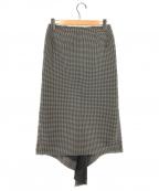 COMME des GARCONS(コムデギャルソン)の古着「ドレープデザインスカート」|ホワイト×ブラック