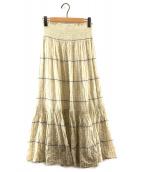 ()の古着「SMOCKED SKIRT スモックドスカート」 ベージュ