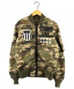 AVIREX(アヴィレックス)の古着「スタッズリバーシブルMA-1ジャケット」|カーキ