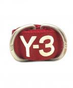 Y-3()の古着「リングベルト」 レッド