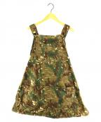 CAL O LINE(キャルオーライン)の古着「utility camo apron カモエプロン」 カーキ