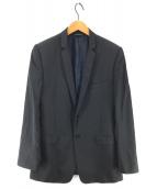 ()の古着「裏地DG柄テーラードジャケット」|ブラック