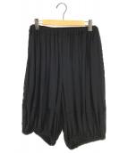 ()の古着「シアープリーツ7分丈パンツ」|ブラック