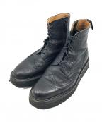 foot the coacher(フットザコーチャー)の古着「レースアップブーツ」 ブラック
