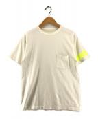 ()の古着「袖ラインポケットTシャツ」 ホワイト