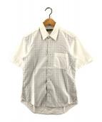 ()の古着「裏チェックショートスリーブシャツ」 ブラック×ホワイト