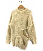 ()の古着「Wool knit pullover side hole」 ベージュ