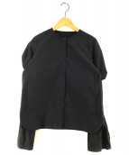 ()の古着「ボリュームスリーブブラウス」 ブラック