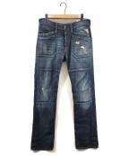 REPLAY(リプレイ)の古着「JOMMERダメージ加工デニムパンツ」|インディゴ