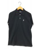 ()の古着「チェッカーポロシャツ」|ブラック