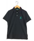 ()の古着「ロゴパターンポロシャツ」|ブラック