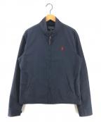 POLO RALPH LAUREN(ポロ・ラルフローレン)の古着「スイングトップ ジップアップジャケット」|ネイビー