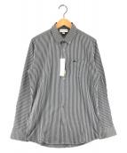 ()の古着「COOLMAXストライプボタンダウンシャツ」 ネイビー