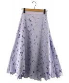 ()の古着「ボタニカル刺繍レーススカート」|ラベンダー