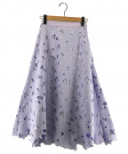 Noela(ノエラ)の古着「ボタニカル刺繍レーススカート」 ラベンダー