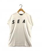 WIND AND SEA(ウィンダンシー)の古着「KEEP DISTANCEプリントTシャツ」|ホワイト