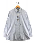 ()の古着「[古着]プルオーバーカントリーシャツ」 ブルー
