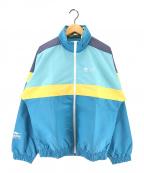adidas×HUMAN MADE(アディダス×ヒューマンメイド)の古着「WINDBREAKER HM ウィンドブレーカー ジャケット」|ブルー