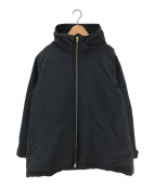 ()の古着「スタンドフーディーダウンコート」 ブラック